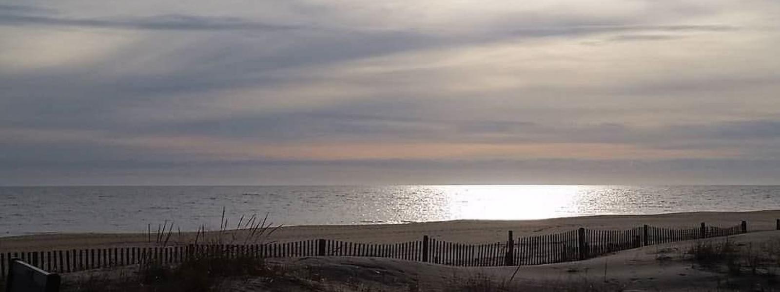 The sun setting on Middlesex Beach