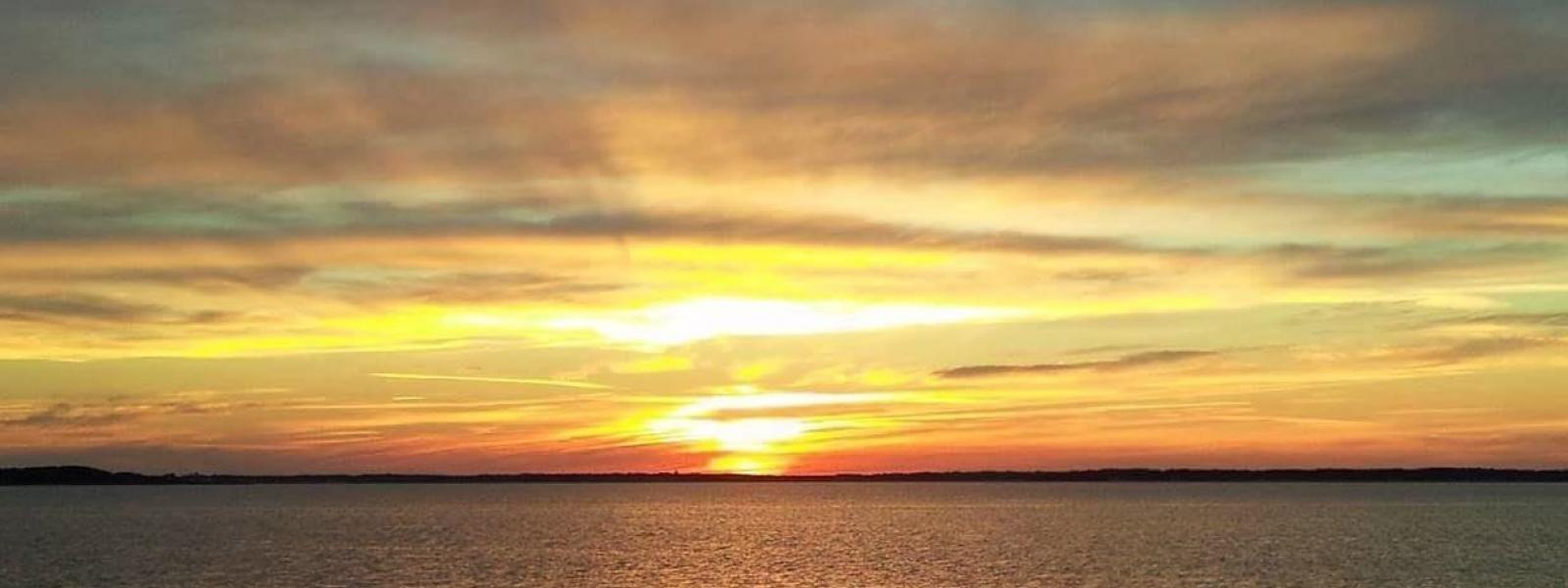 Sun setting at Ocean View